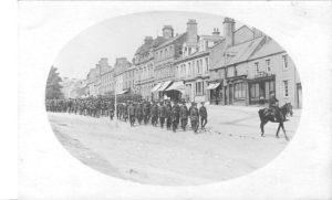 Fusiliers leaving Rothbury 1916