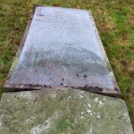 Rescued tombstone